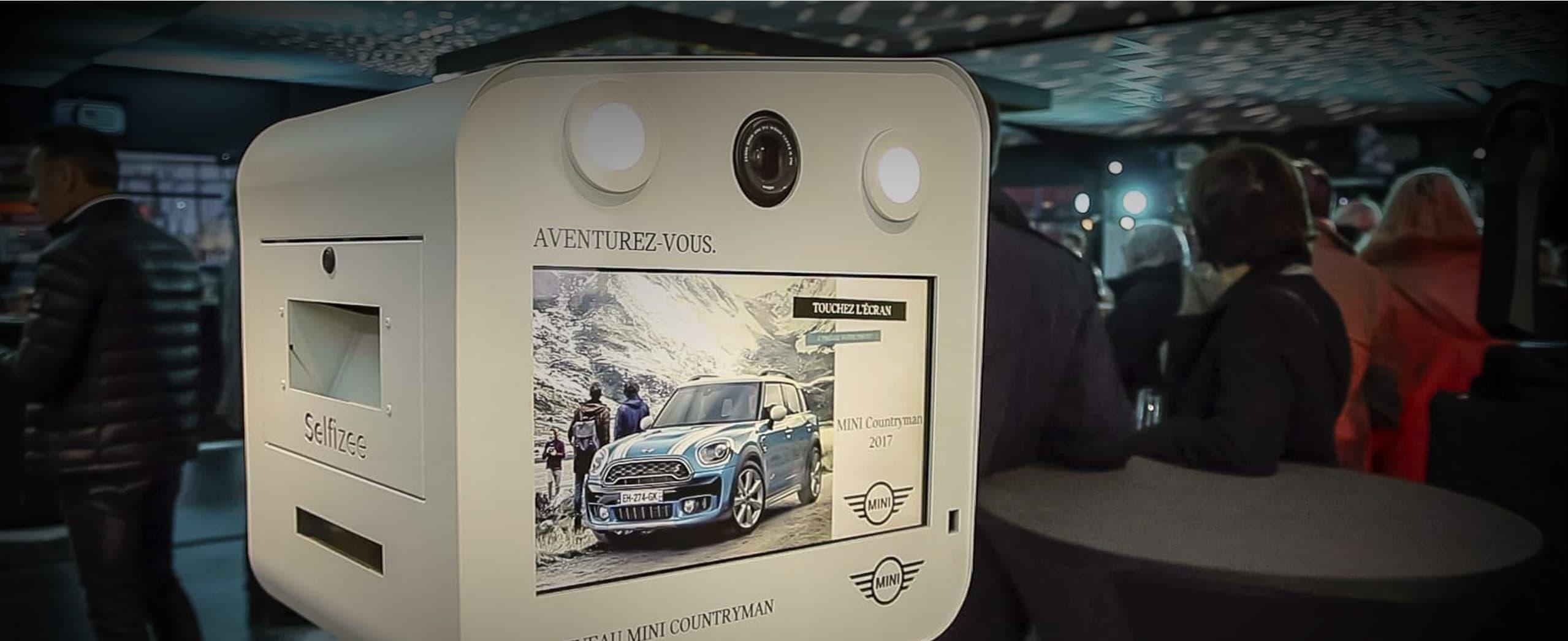 Borne photo photobooth pour événements professionnels