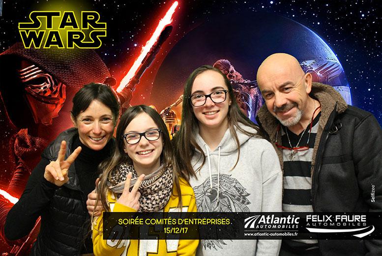 Animation fond vert photobooth Lyon Cinéma sortie film Star Wars