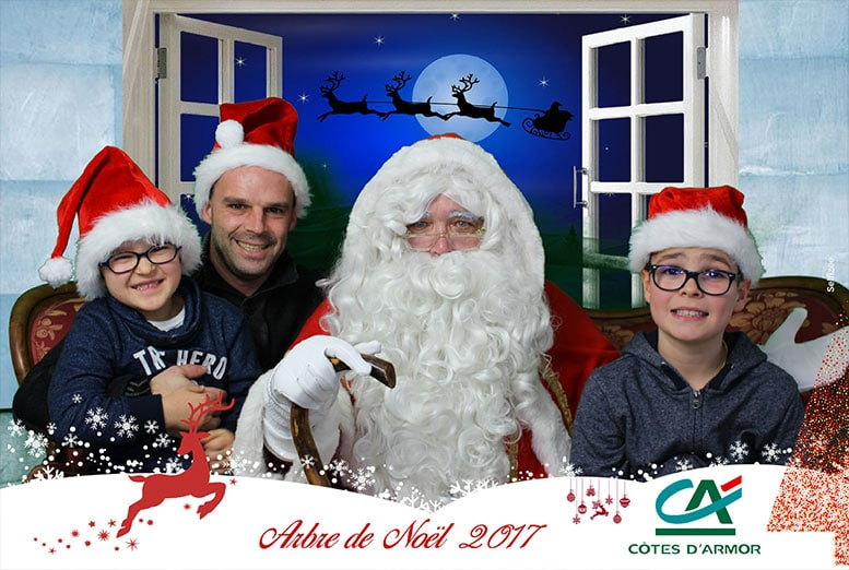 Animation fond vert photobooth arbre de Noël