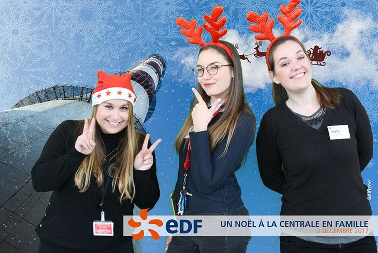 Photobooth borne photo arbre de Noël Nantes pour EDF