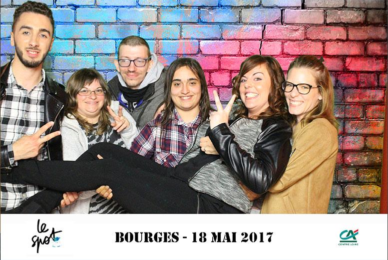 Animation fond vert borne photo Bourges soirée étudiante