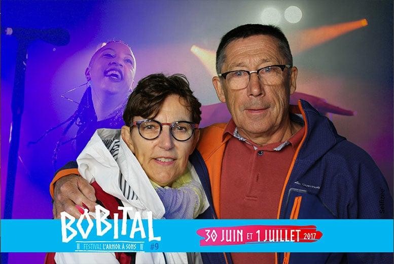 Animation fond vert borne photo festival musique Bobital en Côtes d'armor
