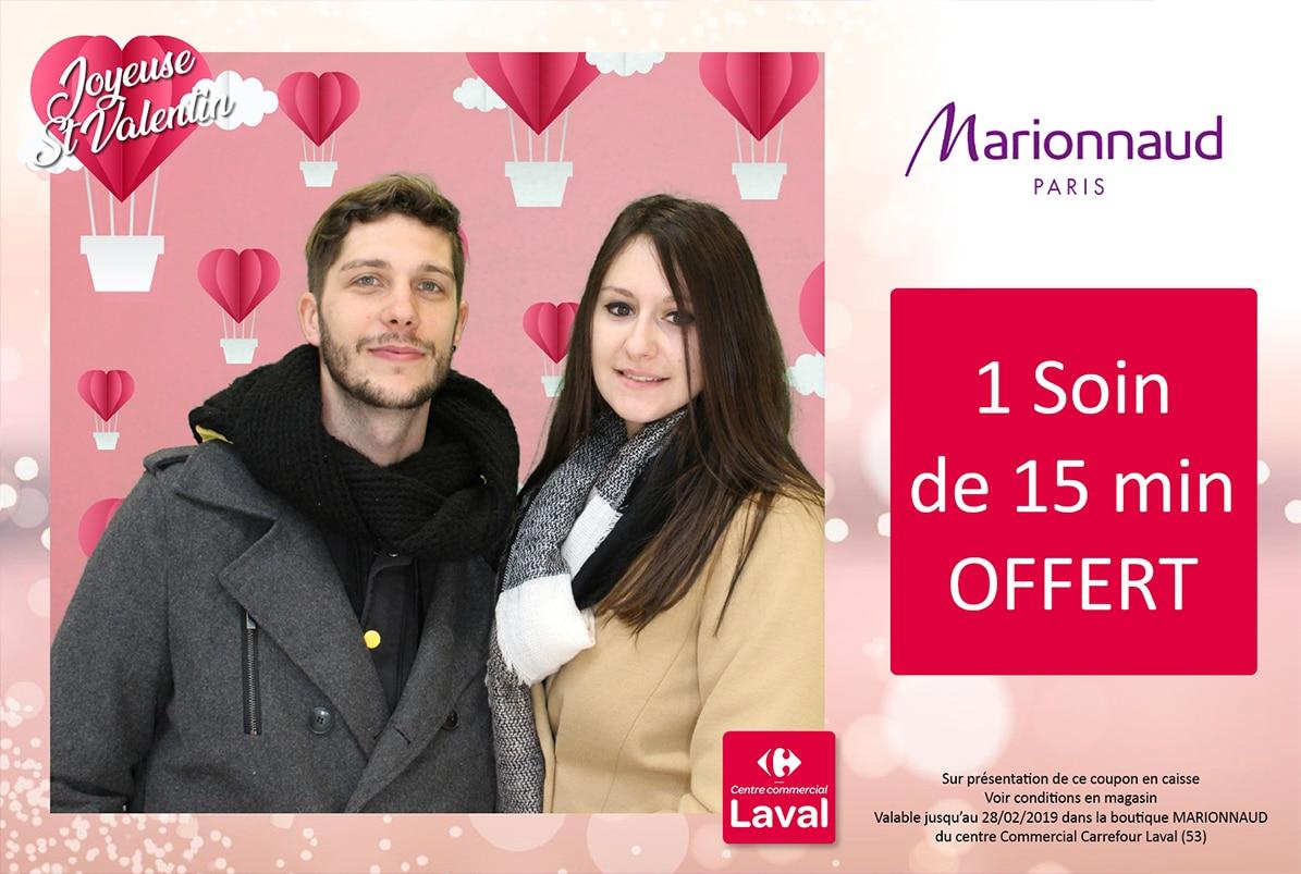 Animation borne selfie avec instant gagnant en centre Commercial Carrefour