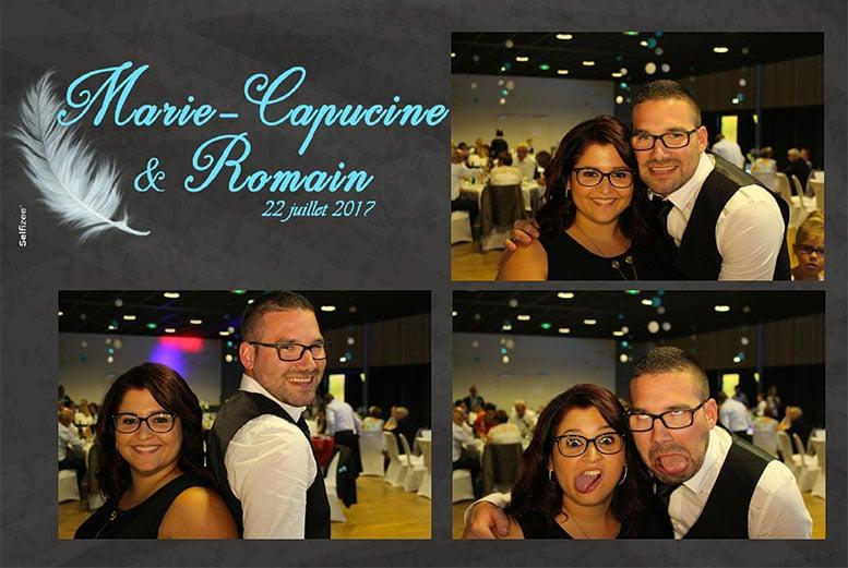 Borne photobooth selfie mariage multishoot