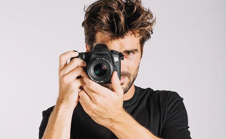 Photographe avec photocall
