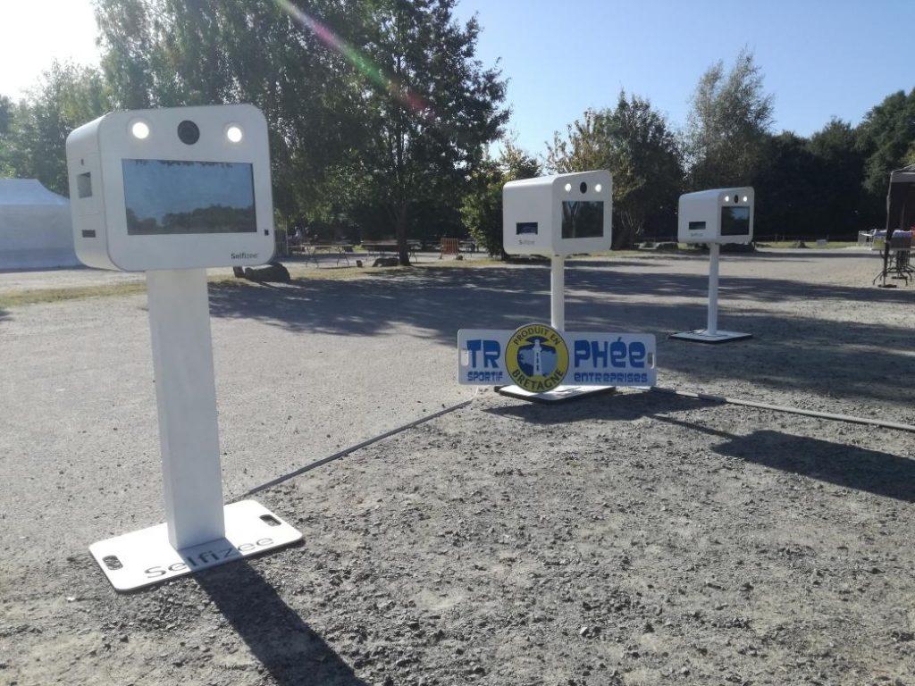 3 bornes photos à selfie Selfizee à l'occasion du Trophée entreprise de Produit en Bretagne à l'Ile de Bréhat