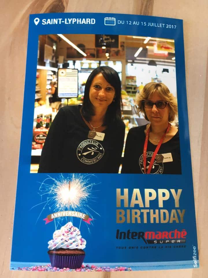 Photo selfie personnalisée lors de l'anniversaire de l'Intermarché de Saint-Lyphard, Pays de la Loire
