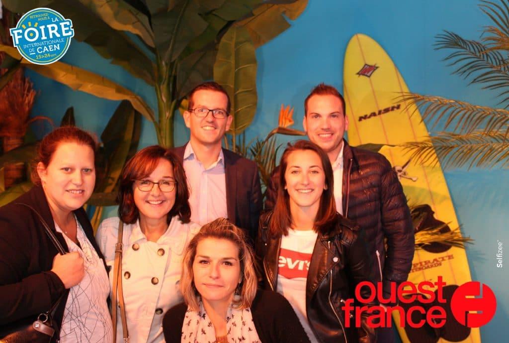 Photo prise avec une borne photo selfie Selfizee au stand Ouest-France de la Foire de Caen en 2017