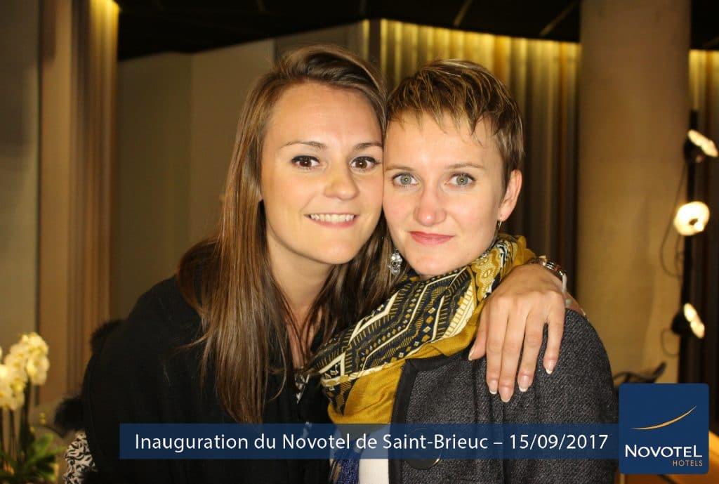 Photo capturée au format paysage avec une borne photo selfie à l'occasion de l'inauguration du Novotel de Saint-Brieuc (22)