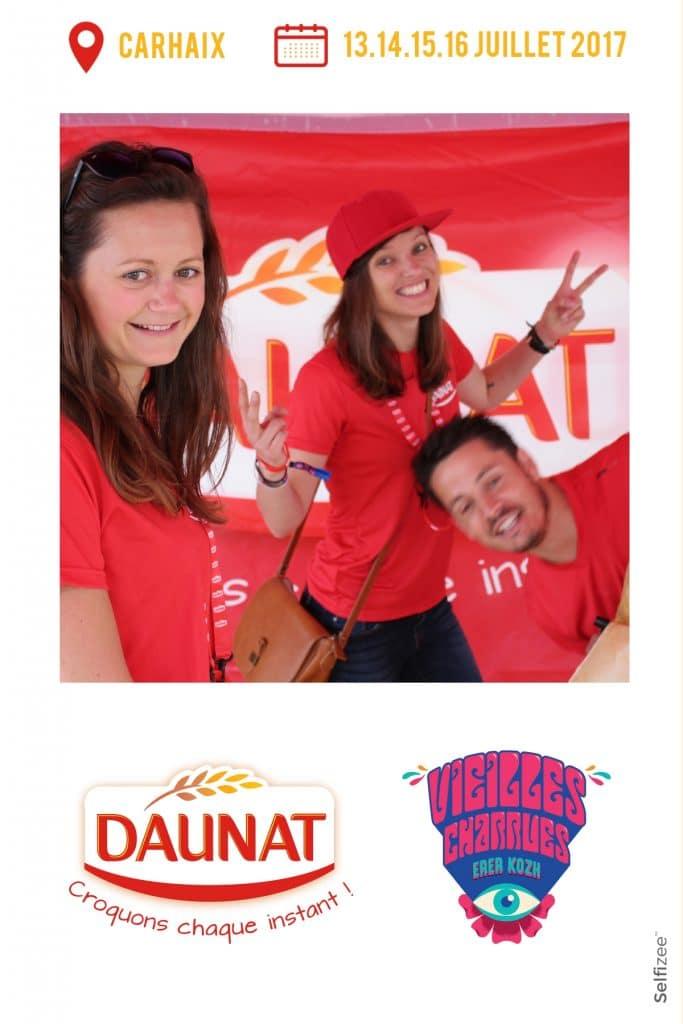 Animation photo avec la borne photo de Selfizee pour pour Daunat aux Vieilles Charrues à Carhaix