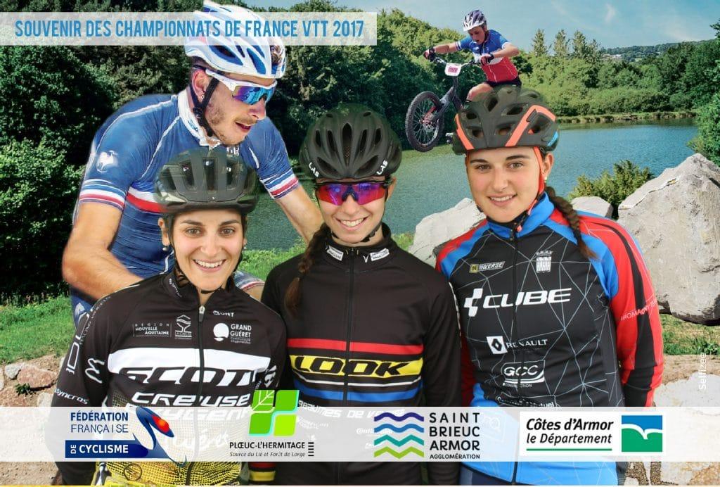 Photo paysage capturée avec une borne photo selfie Selfizee pour les Championnats de France de VTT