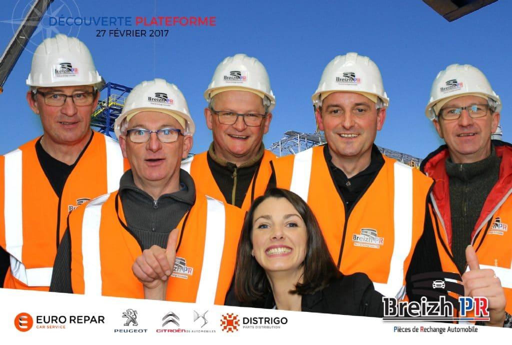 Photo selfie personnalisée lors de l'ouverture de la plateforme Breizh PR à Rostrenen, Côtes-d'Armor