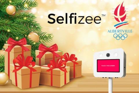 Animation borne photo selfie par Selfizee pour la ville d'Albertville pour les fêtes de Noël