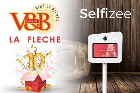 Animation borne photo selfie pour les 10 ans du VandB La Fleche
