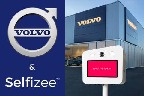 Animation borne photo selfie pour l'inauguration de la nouvelle concession Volvo à Saint-Brieuc, Bretagne