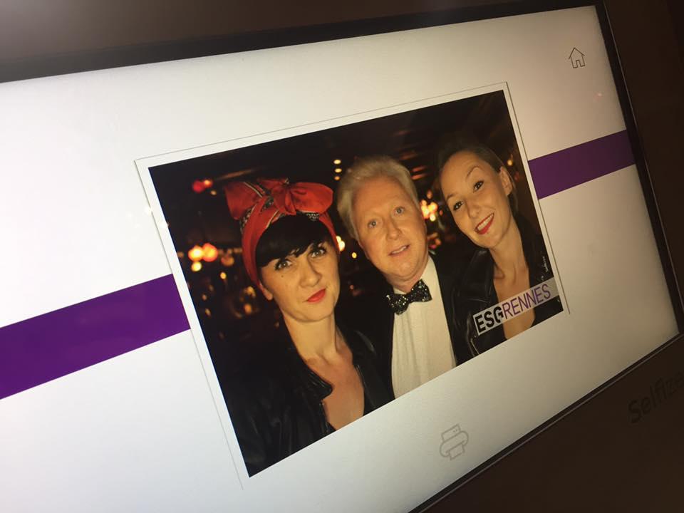 Photo prise avec la borne photo selfie Selfizee pour le gala de l'ESG Rennes