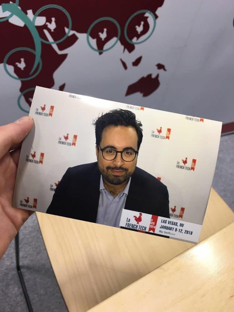 Impression photo avec la borne photo selfie de Selfizee pour le CES de Las Vagas