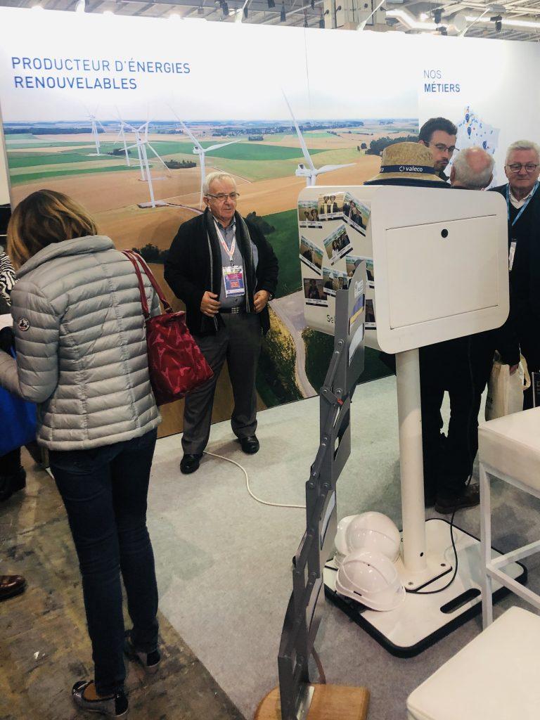 Borne photo sur stand au salon des maires de Paris