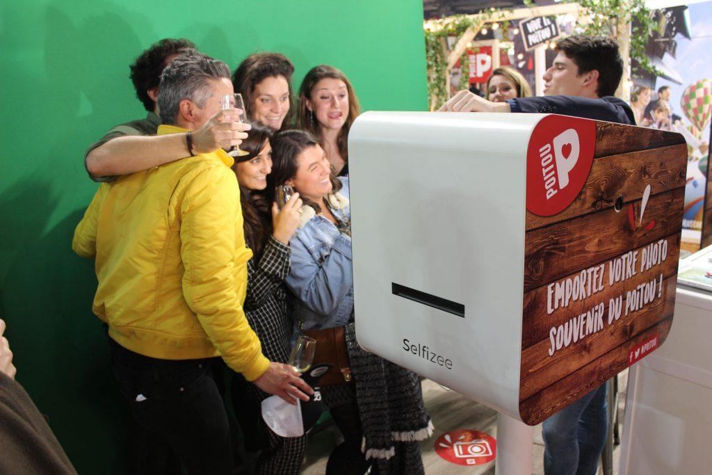Animation photobooth avec fond vert au salon de l'agriculture de Paris en Ile-de-France