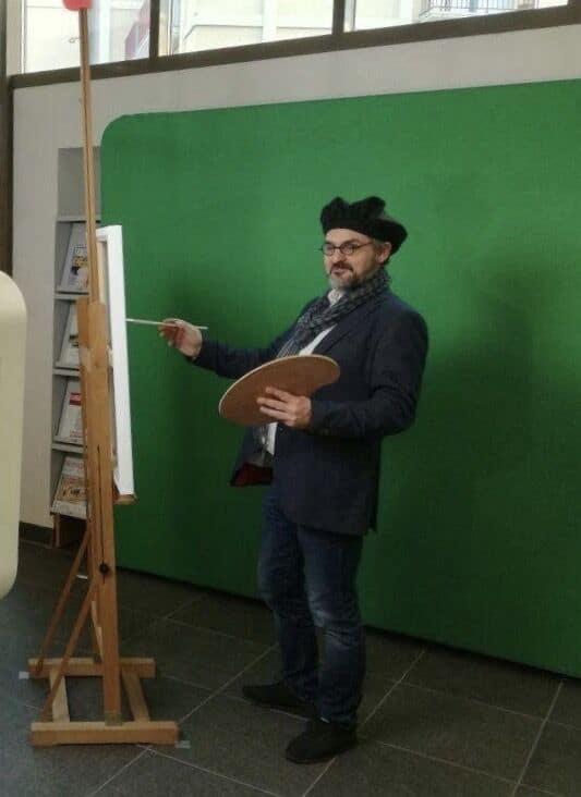 Borne photo et animation fond vert aux voeux du Conseil régional de Normandie à Rouen en 2018