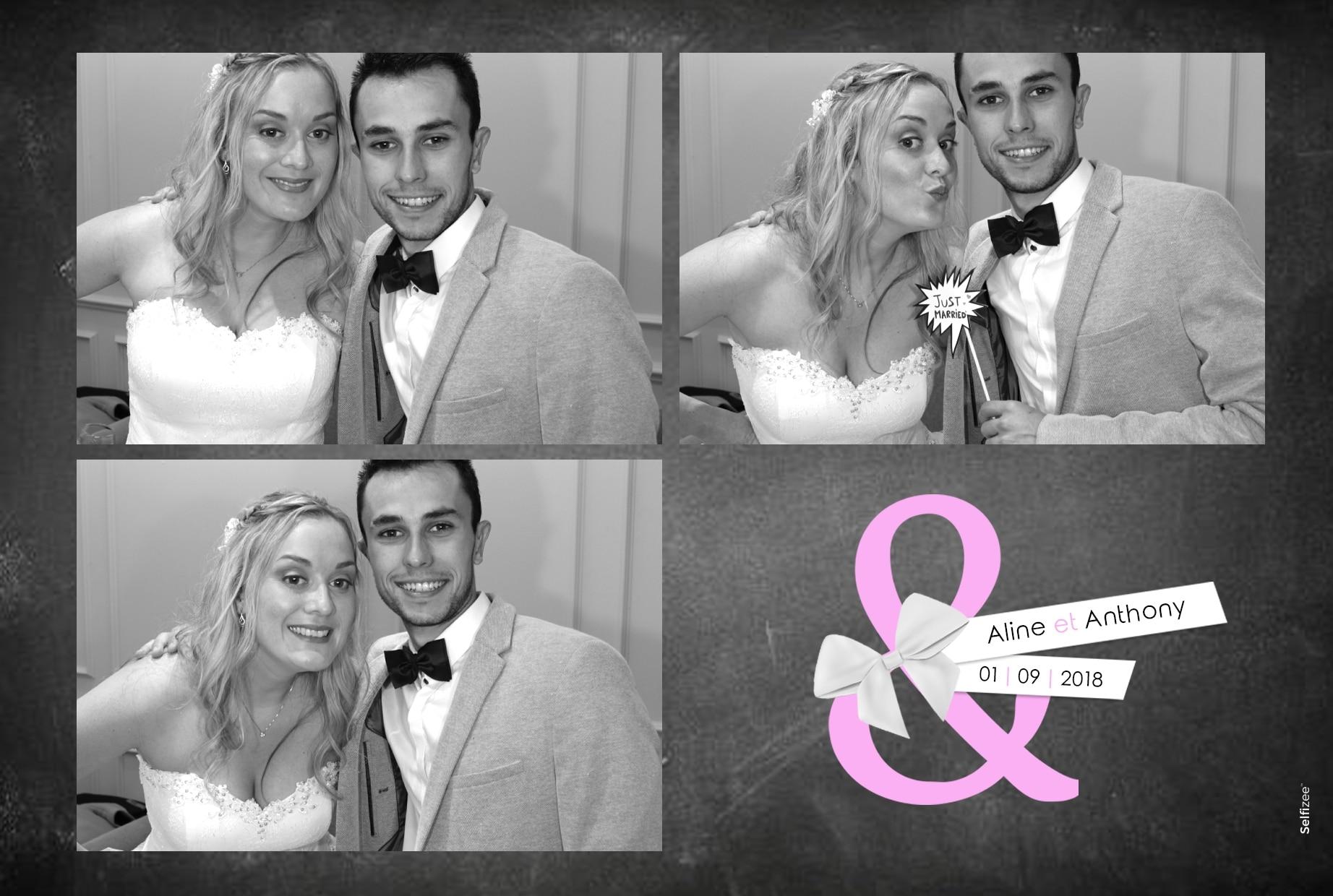 Selfies imprimés et personnalisés avec borne photo pour mariage Brest / Finistère