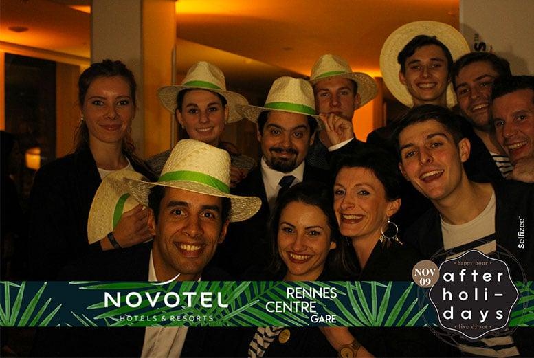 Soirée after holidays avec borne photo / photobooth à l'hôtel Novotel de Rennes