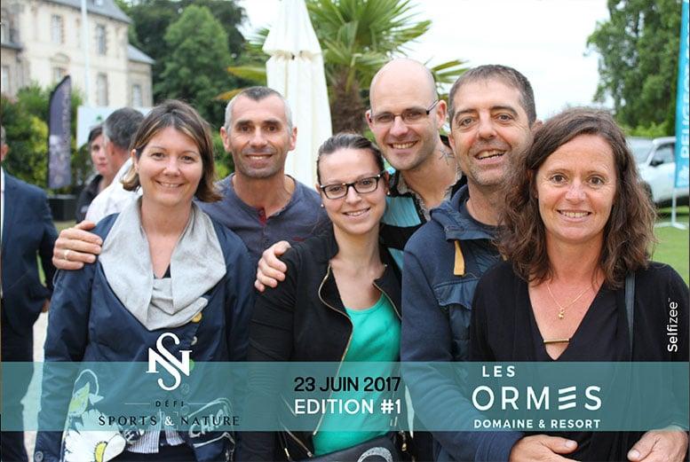 Selfie défi sports & nature entreprises avec borne photo au Domaine des Ormes en Bretagne entre Saint-Malo et Rennes
