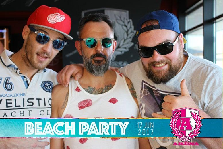Soirée Beach Party 2 avec borne photo à l'Arena Brasserie Sportive de Brest