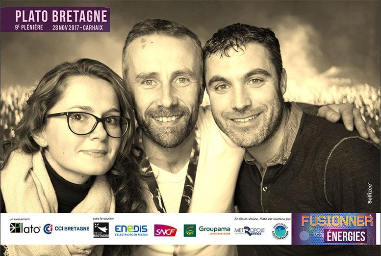 Photobooth avec animation fond vert pour selfies à la plénière régional PLATO à Carhaix-Plouguer dans le Finistère