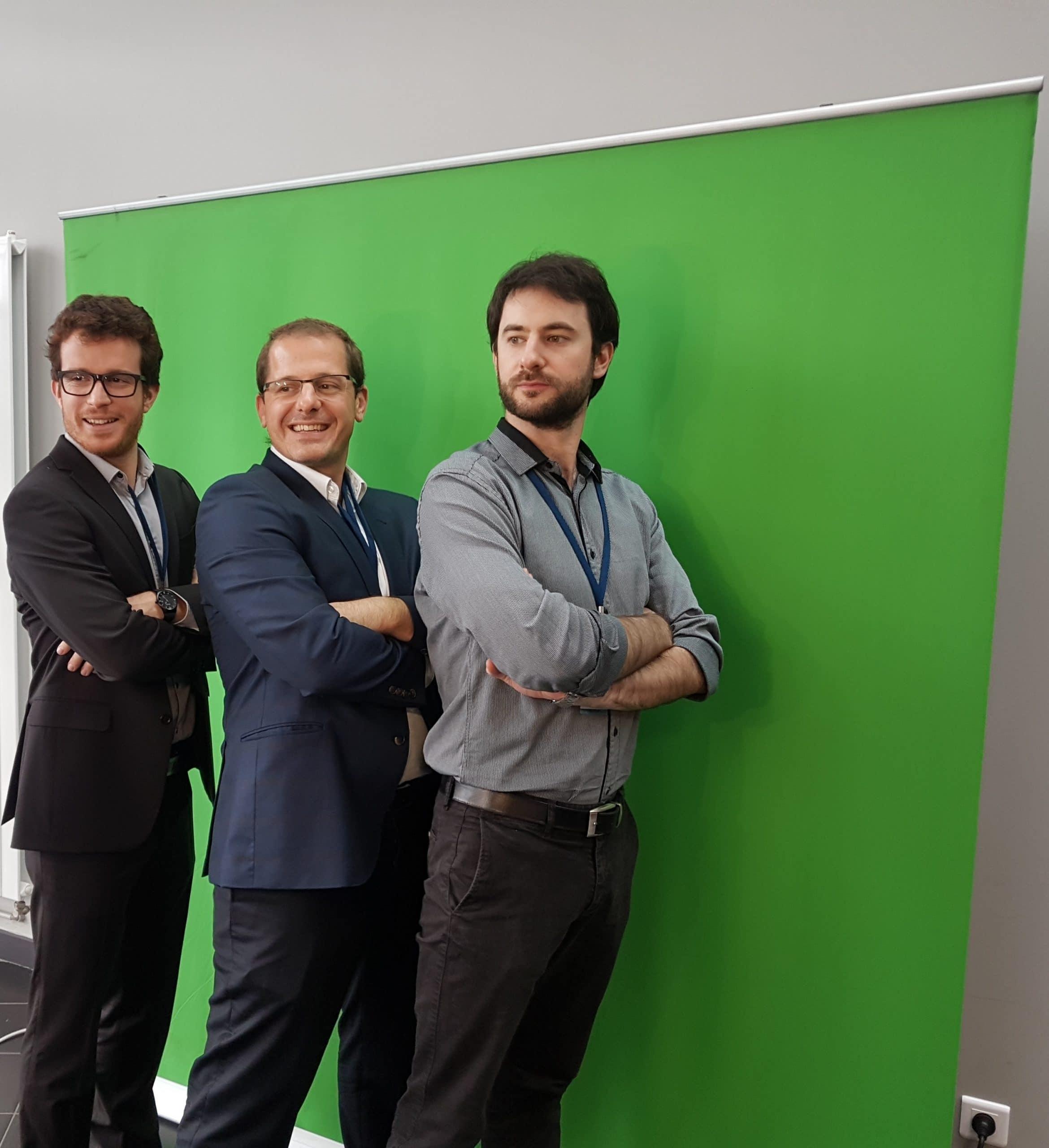 Animation photobooth fond vert au salon Innovation's Day à Angers dans le Maine et Loire