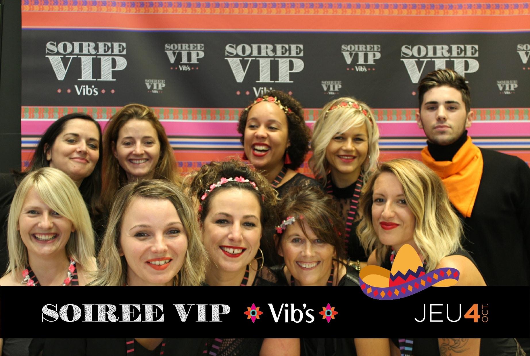 Photo personnalisée et animation borne photo photocall à la soirée VIP du Vib's Saint Malo dans le centre commercial La Madeleine en 2018