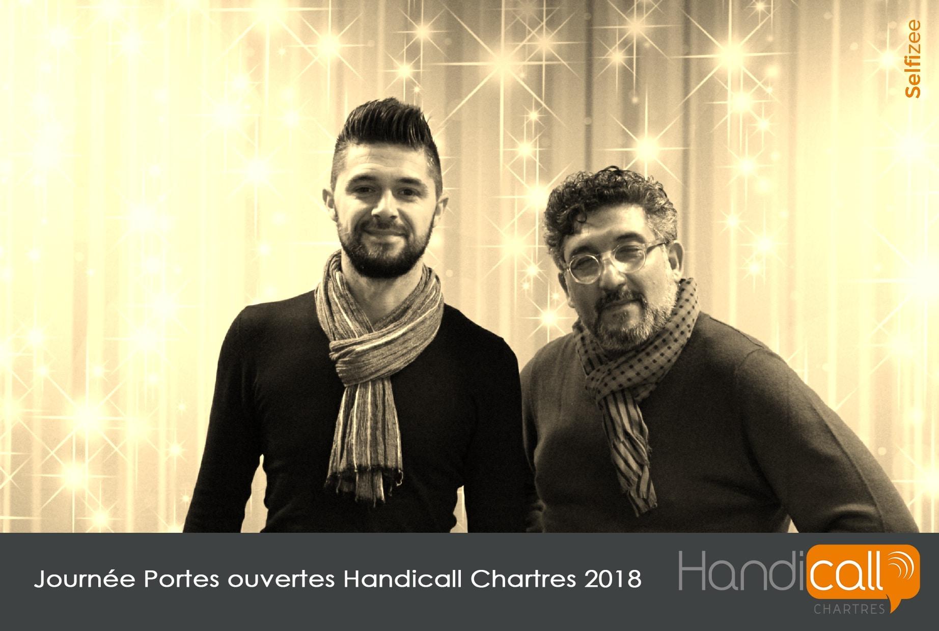 Animation photobooth aux journées portes ouvertes Handicall Chartres avec impressions photos pour les visiteurs
