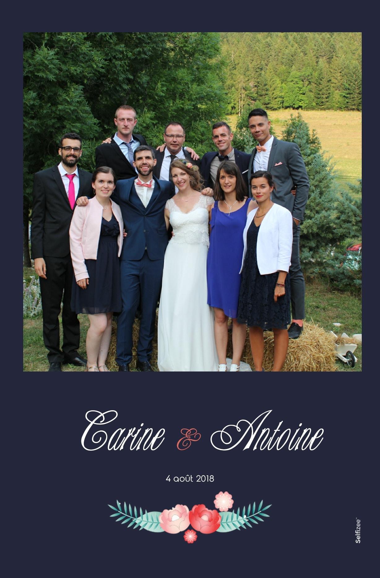Impressions selfies personnalisés et albums photos mariage avec borne photo connectée - location photobooth mariage Grenoble et en Isère