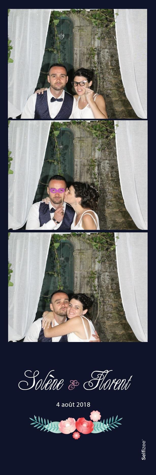 Photobooth à louer pour mariage dans le Morbihan avec impressions photos personnalisées