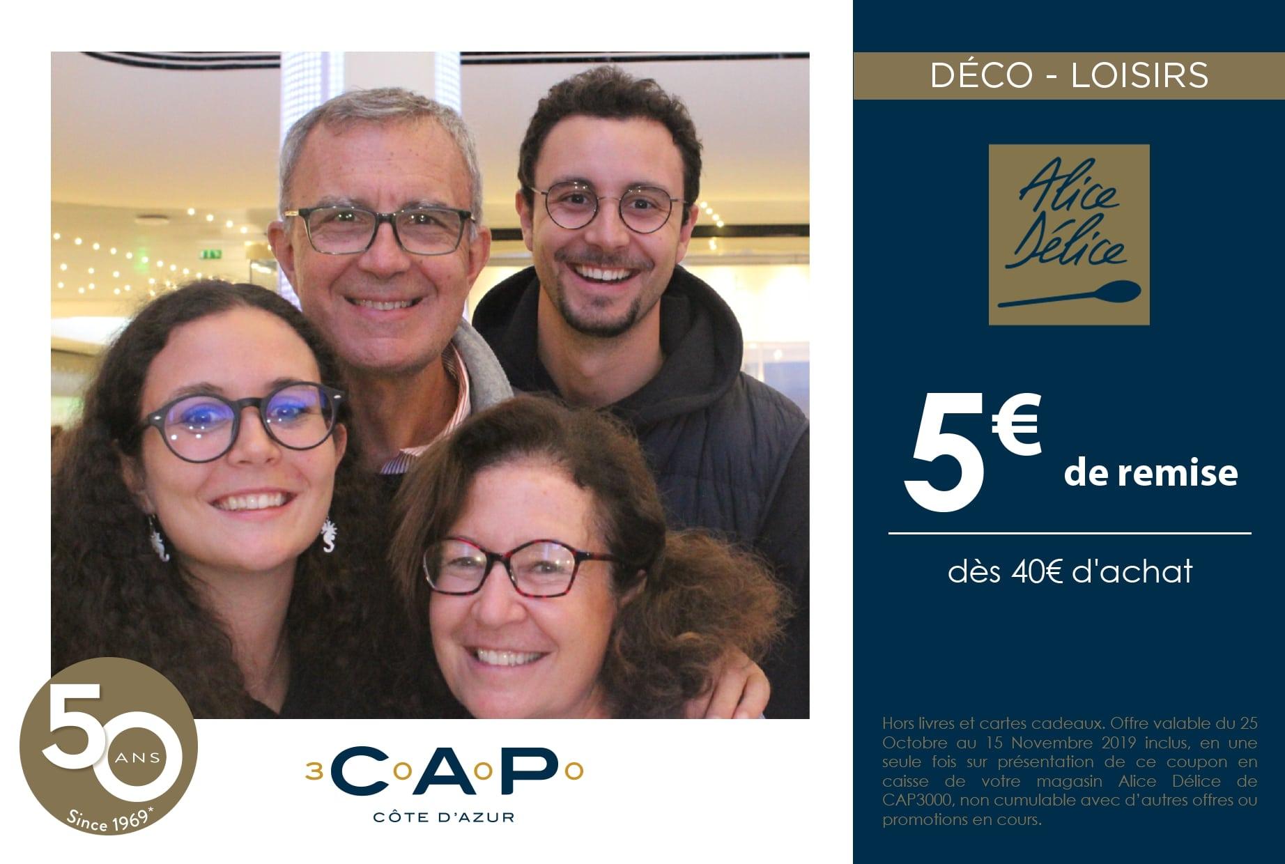 Animation selfie box pour anniversaire 50 ans centre commercial Cap 3000 à Saint Laurent du Var près de Nice - photobooth avec impressions photos et coupons de réduction détachables