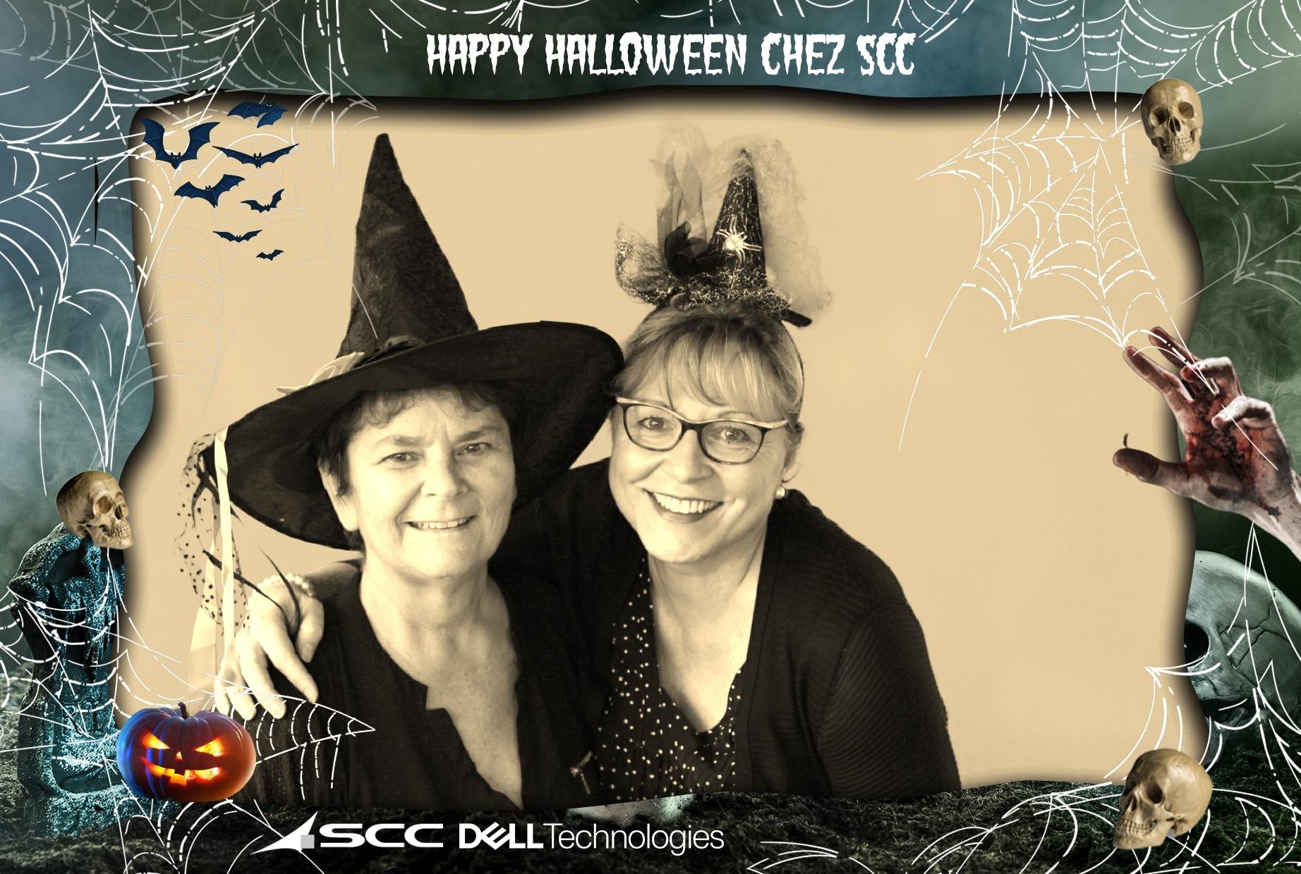 Animation photo Halloween et borne selfie à l'entreprise SCC Toulouse pour impressions selfies entre collègues