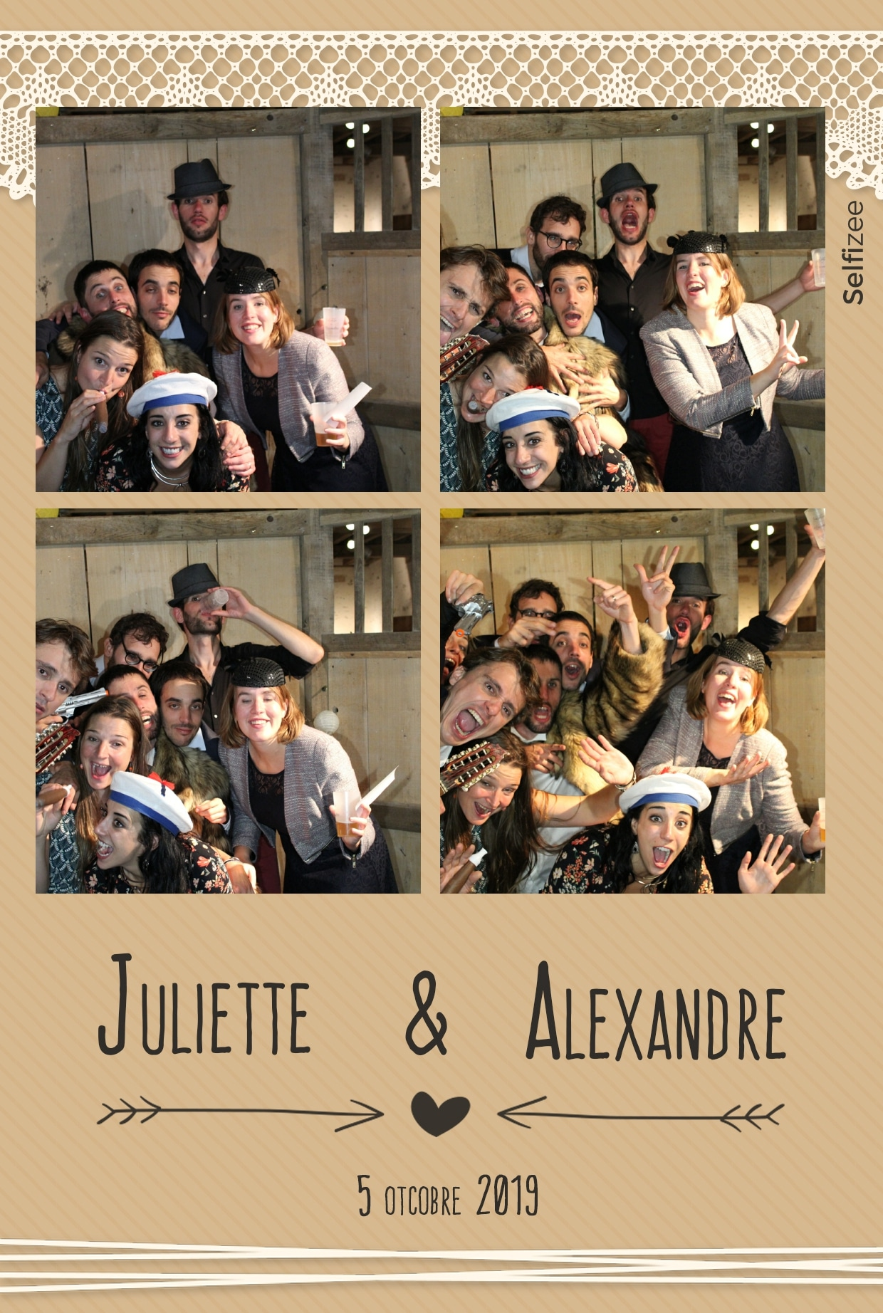 Borne selfie interactive avec impressions photos personnalisées mariage à louer à Poitiers - animation box photo mariage, anniversaire, soirée, baptême dans la Vienne