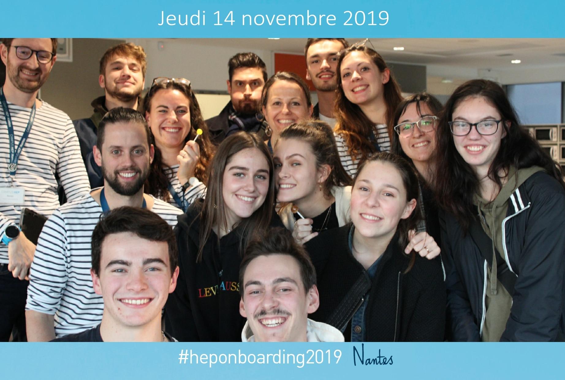 Borne photo animation événement Hep On Boarding au campus HEP Nantes en Loire Atlantique