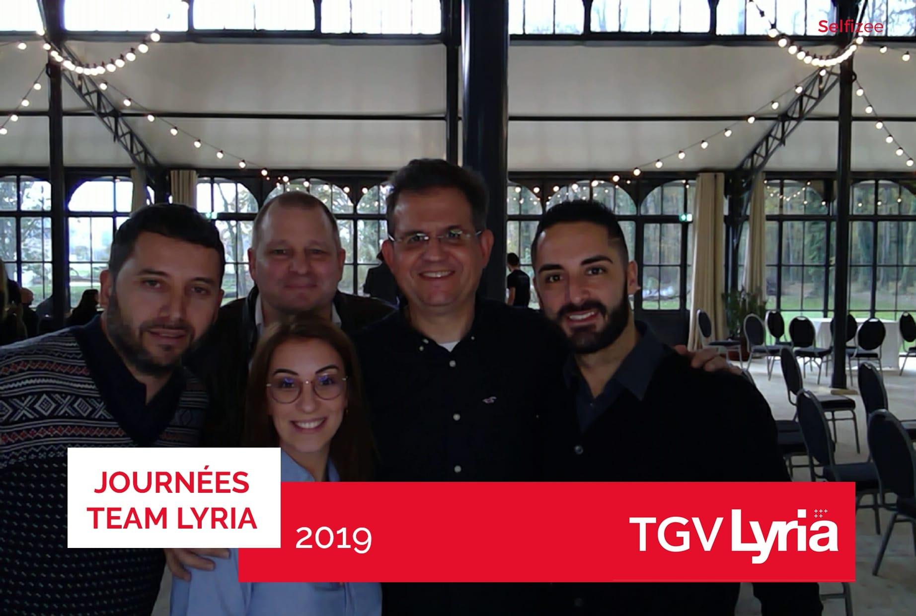 Photobooth connecté et selfies personnalisés pour animation journée team Lyria SNCF à Dijon