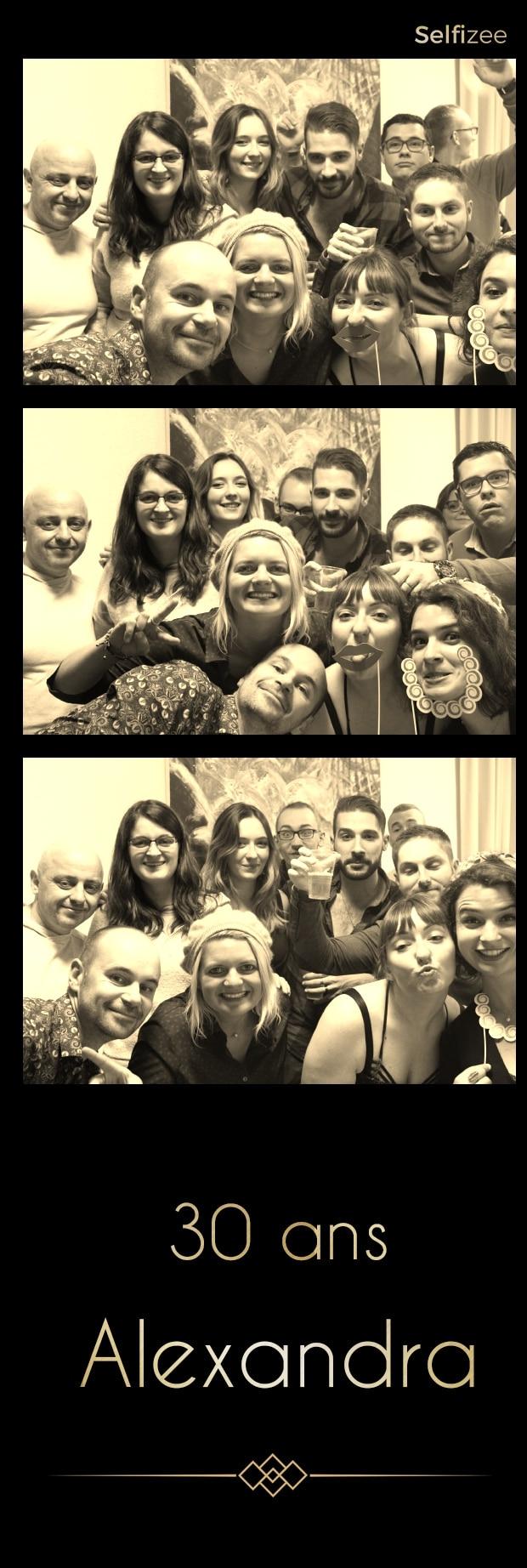 Borne photo à louer à Quimper pour animation selfie personnalisée mariage, anniversaire, fête, baptême, soirée
