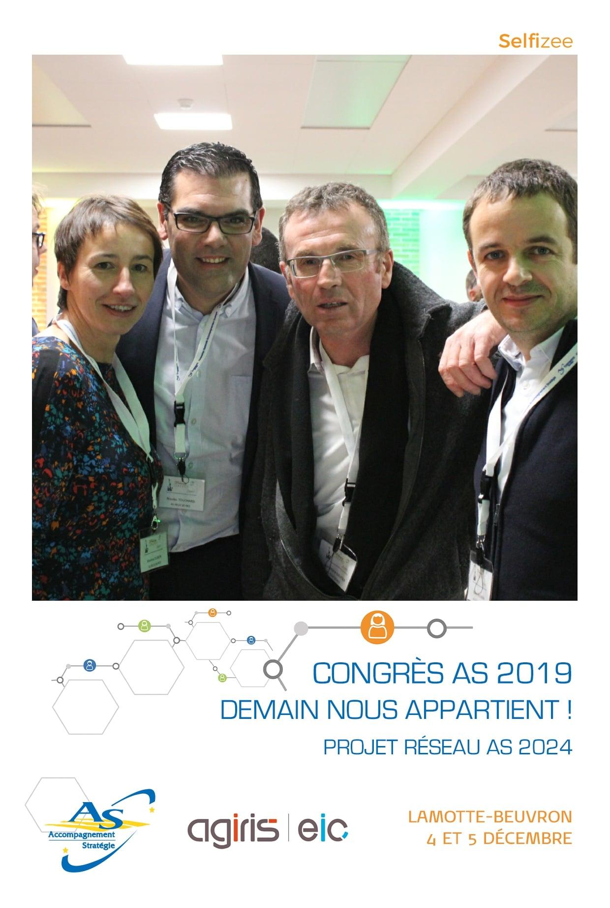 Animation selfie box avec photos personnalisées au congrès AS 2019 à Lamotte Beuvron entre Orléans et Vierzon