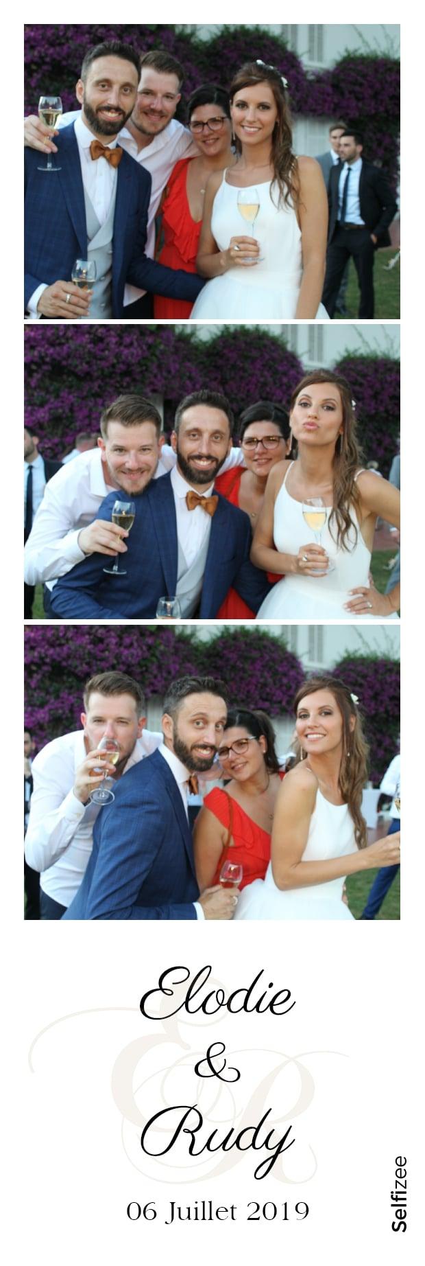 Album photo mariage format bandelette avec animation selfie box Cannes / Alpes Maritimes et photobooth connecté avec imprimante