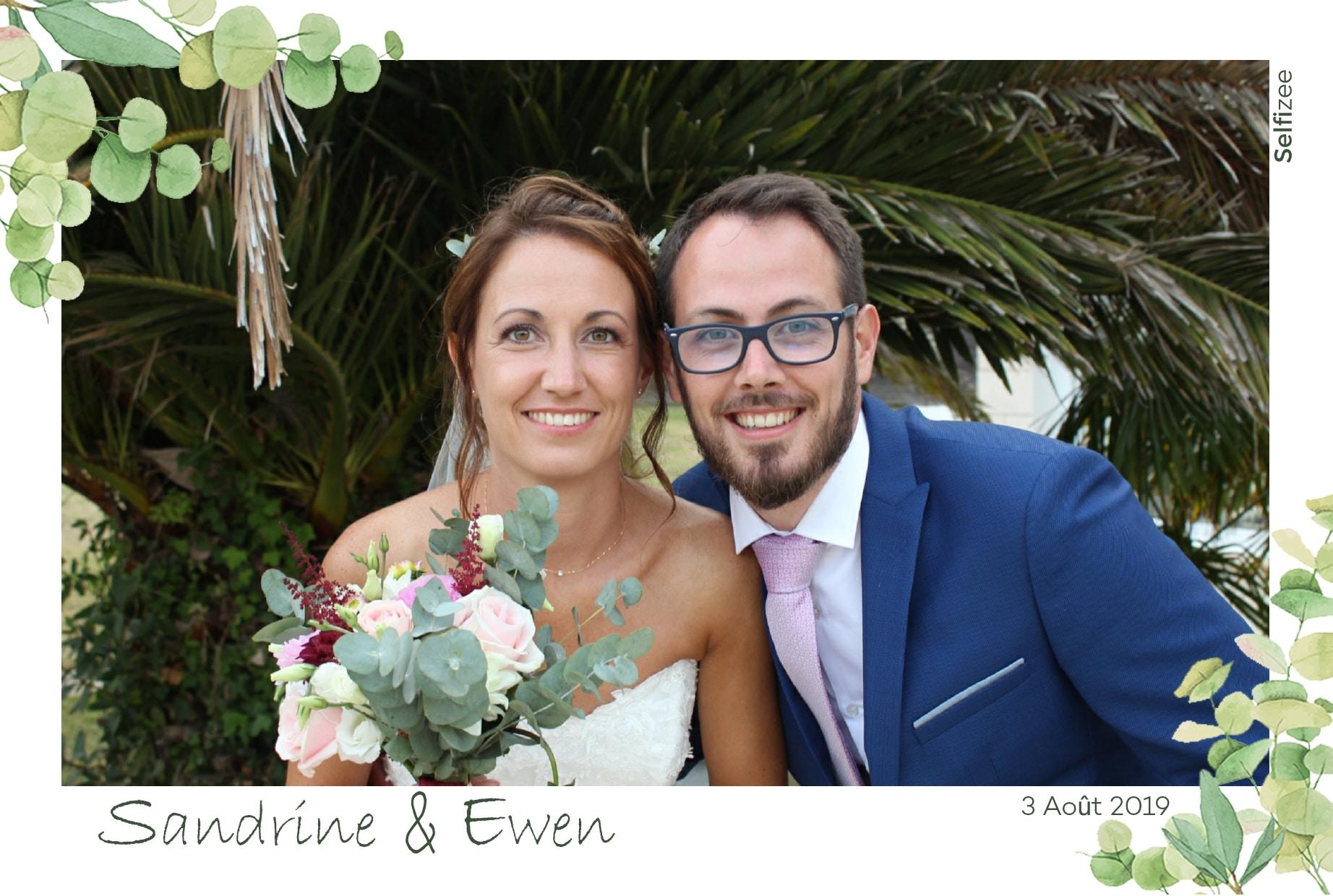 Photo souvenir personnalisée pour mariage à Quimper et dans le Finistère avec borne selfie