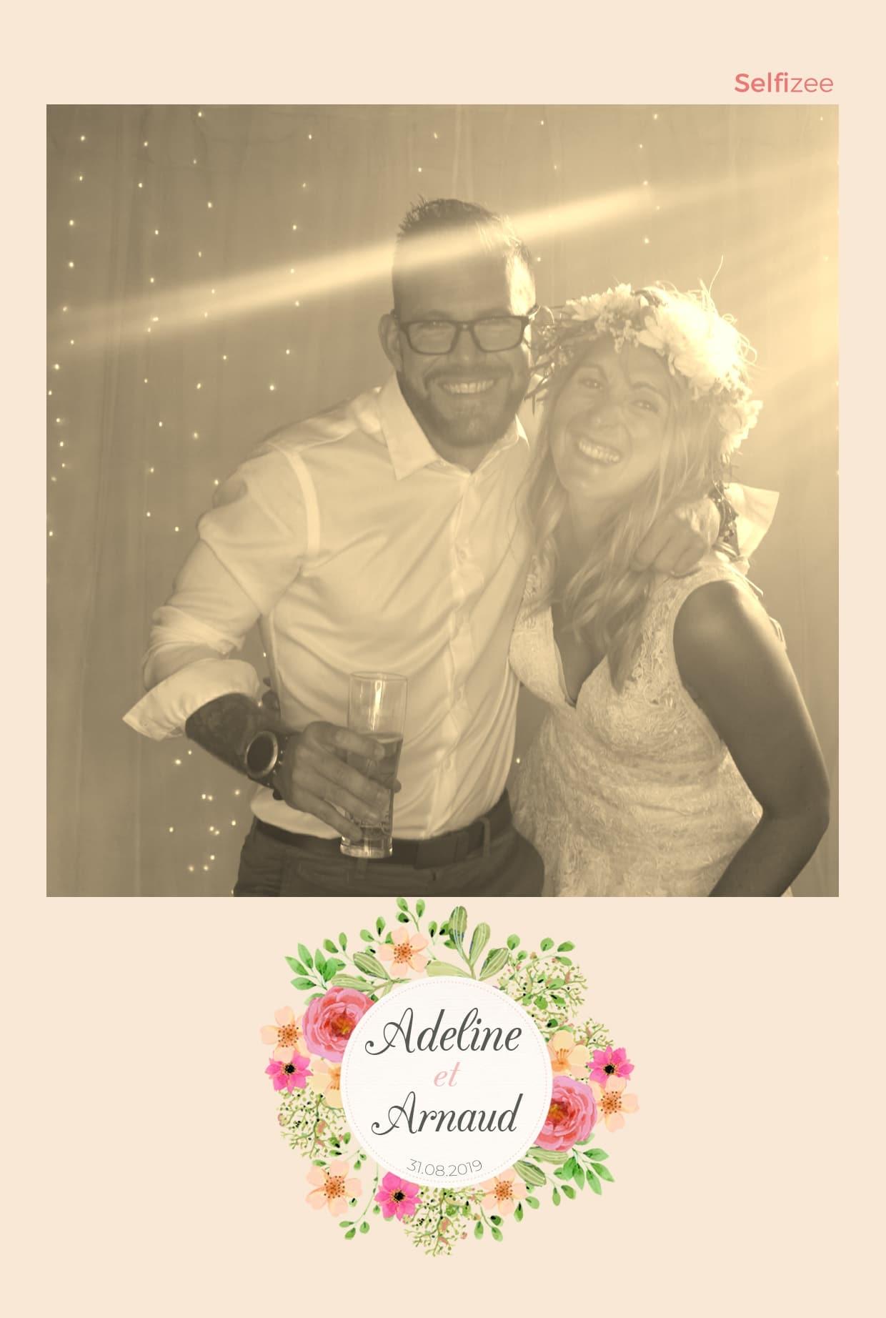 Photo personnalisée mariage avec filtre La Rochelle - location borne photo pour animation fête mariage La Rochelle