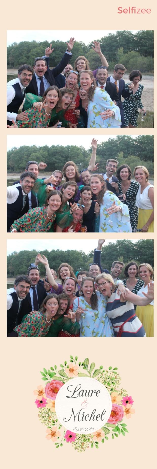 Photo mariage personnalisée avec borne selfie à louer à Tours / Indre et Loire pour animation mariage