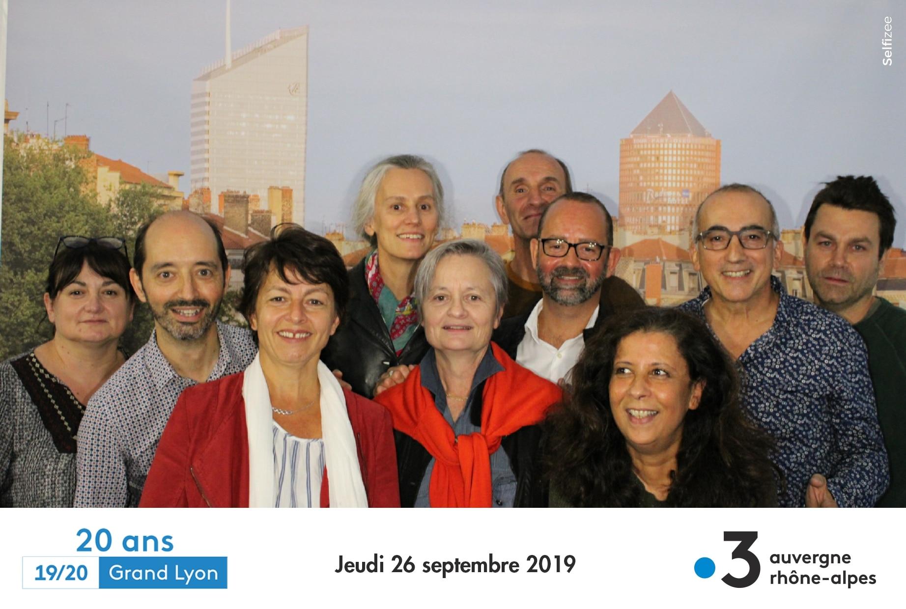 Photobooth connecté et animation photocall à soirée anniversaire 20 ans France 3 à Lyon