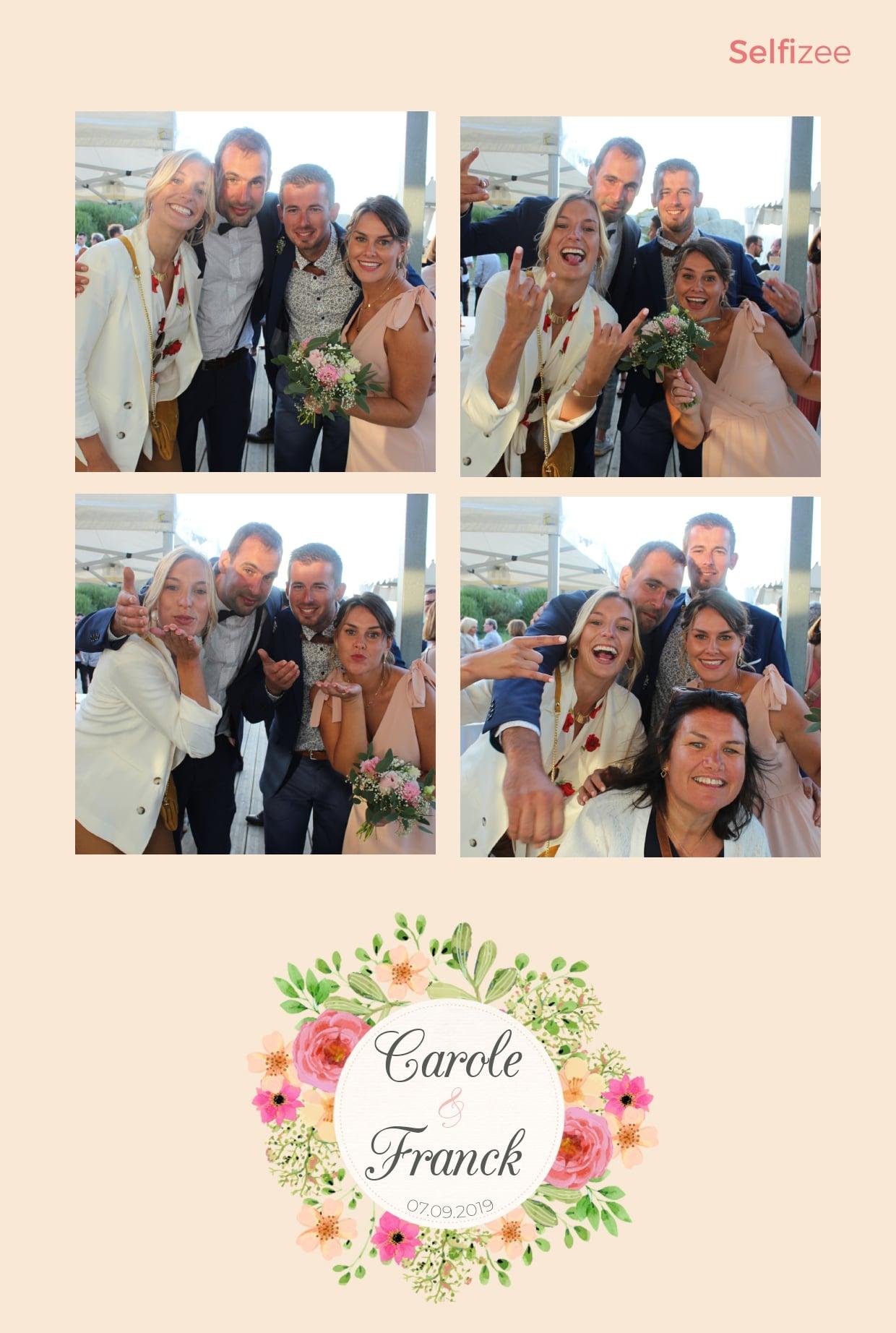 Album photo mariage personnalisé - borne selfie avec imprimante à louer animation mariage à Brest et dans le Finistère