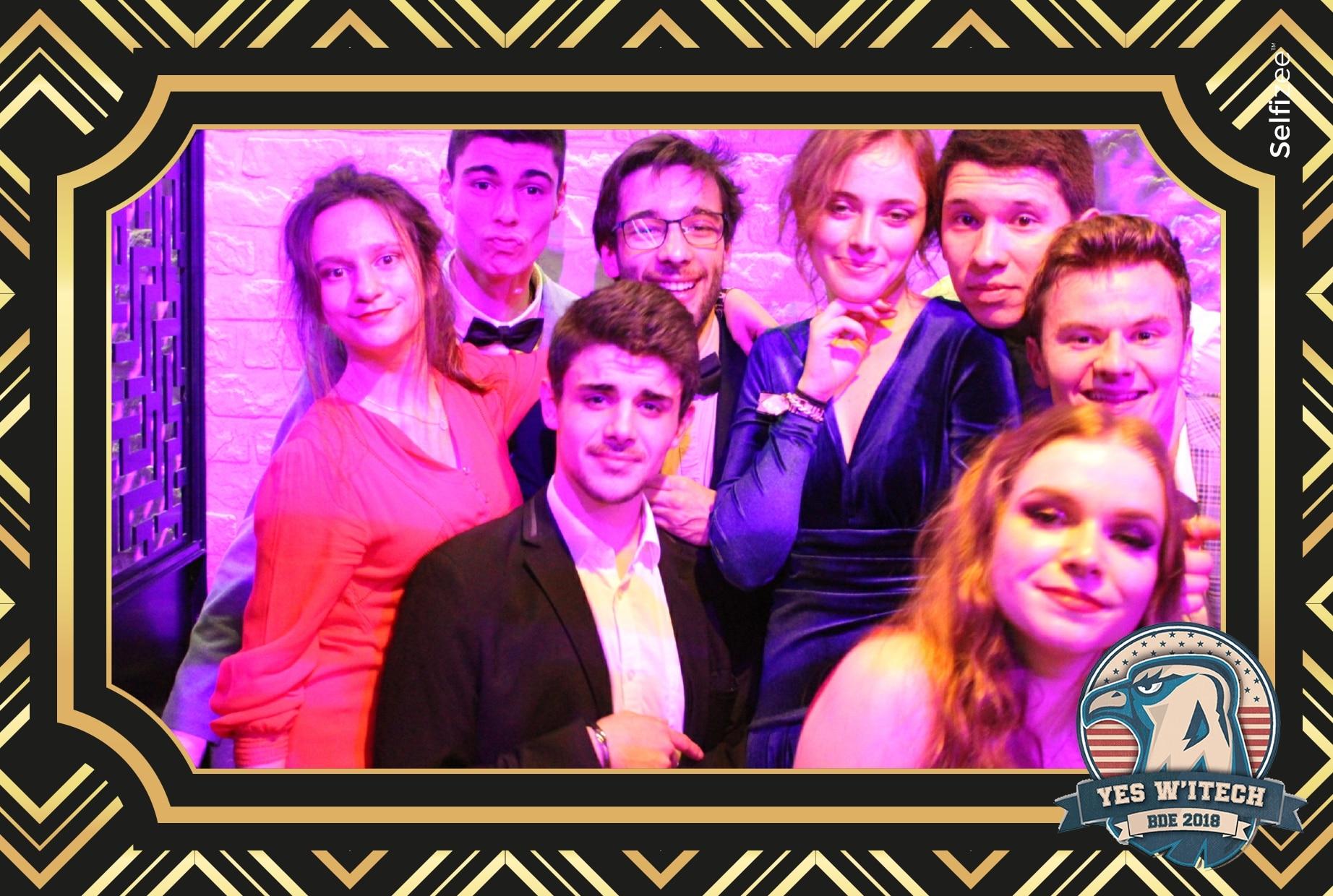 Borne selfie et animation photo personnalisée au gala de l'école ITECH Lyon 2020