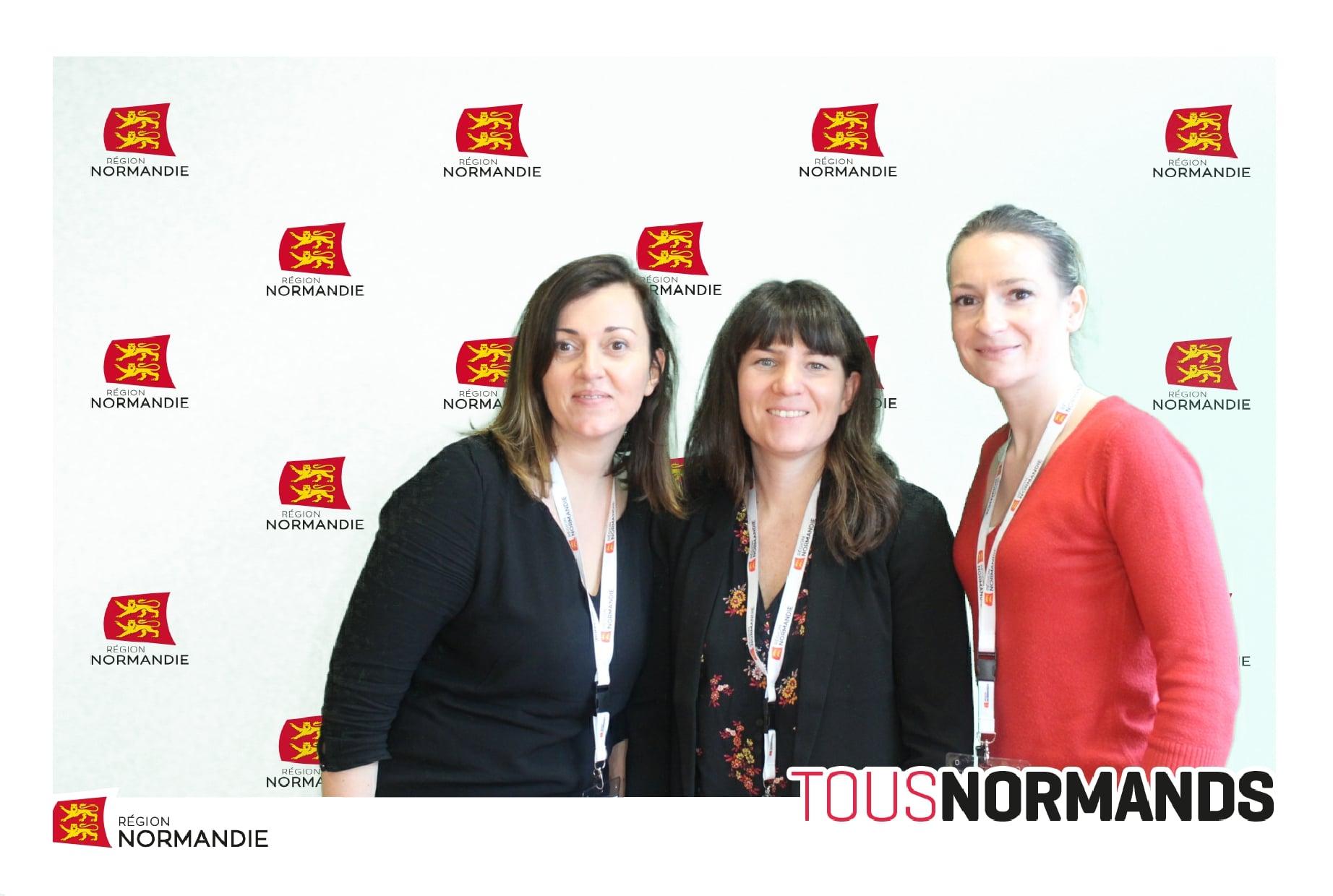 Animation borne photo aux voeux 2020 du conseil régional de Normandie à Saint Lô avec impressions photos
