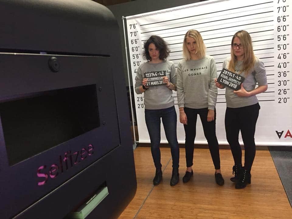 Animation selfie box et photocall au festival de films gangsters Les Mauvais Gones 2018 à UGC Ciné Cité Confluence Lyon - photobooth connecté et photos personnalisées